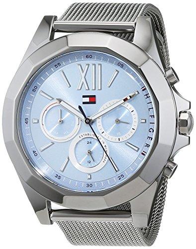 Tommy Hilfiger Damen Multi Zifferblatt Quarz Uhr mit Edelstahl Armband 1781846