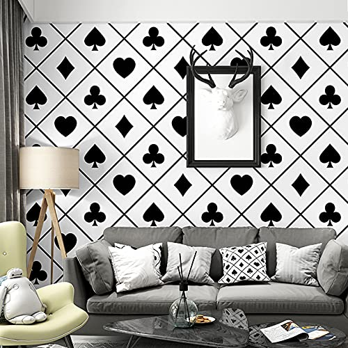 QWESD Papel Tapiz nórdico Fondo de TV celosía en Blanco y Negro gráficos geométricos Dormitorio Sala de Estar luz Americana Estilo de Lujo Papel Tapiz de casa de Familia