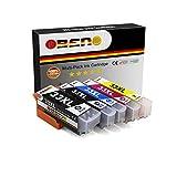 OBENO - 1 Set - 33XL T33XL 5 Pack Compatibile Cartouche D'encre pour Expression Premium XP-530 XP-540 XP-630 XP-635 XP-640 XP-645 XP-830 XP-900 (1 Foto Noir, 1 Noir, 1 Cyan, 1 Magenta,1 jaune)