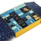 Gwhole Calendario Dell'avvento Scatole, 24 Scatole Regalo di Natale Calendario dell'Avvento da Riempire Fai da Te Scatole Carta per Feste Natalizie Forniture