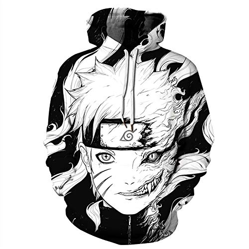 Clocore Unisex Anime Theme Kostüm Jacke Kapuzenpullover (Naruto #1,2XL/3XL)