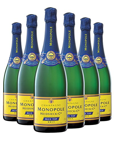 Heidsieck Monopole Blue Top Brut Champagner NV 75cl - (Pack of 6)