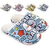 ZDQ Winter Hausschuhe Baumwolle Pantoffeln Jungen mit Cartoon Plüsch Slipper Slip On Indoor...