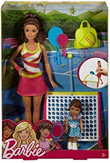 Barbie Sports Complete Playset Tennis DVG13_2 Activity and Amusement Toy
