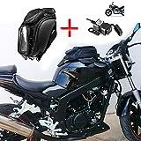 Bolsa de Tanque de Motocicleta Impermeable Oxford Bolsa de Herramientas de viaje de Alforja Magnética Equipaje de cola con Cargador USB