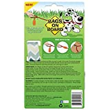 Bags on Board Dog Poop Bags Dispenser with 14 Refill Bags   Attaches to Most Leashes, Green Chevron