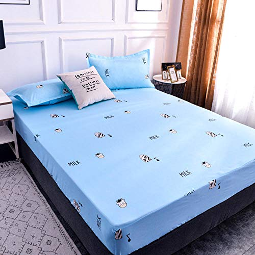 Protector Quilted Waterproof Cover, Ultra Soft, Hypoallergenic & Breathable Microfibernon-slip fixed mattress dust cover 15 150cmx200cm