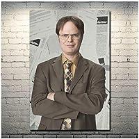 Rzhss オフィスTvシリーズリックネガンアートキャンバスポスタープリントリビングルームの壁の装飾用キャンバスにプリント-50X70Cmフレームなし