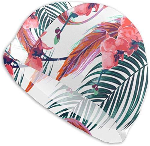 HFHY Swim Cap Hat Flower (2) Bonnet de Bain pour Cheveux Longs Conçu pour Les Adultes Cheveux Longs, épais ou bouclés