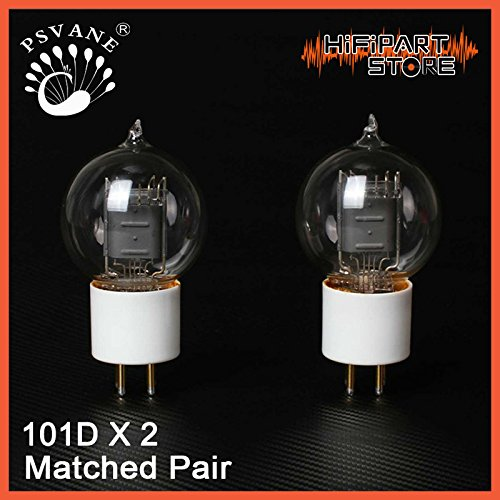Best Deals! 2pcs PSVANE HiFi 101D Ceramic Base Vaccum Tube Matched Pair