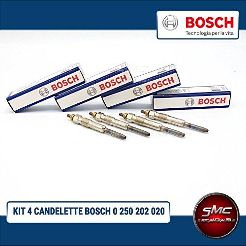 Kit 4 bougies de préchauffage BOSCH 0250202020