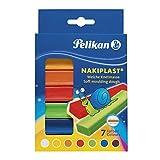 Pelikan-Infantil PLASTILINA NAKIPLAST-7 colores-125gr, 7, 6 Colores (622712)