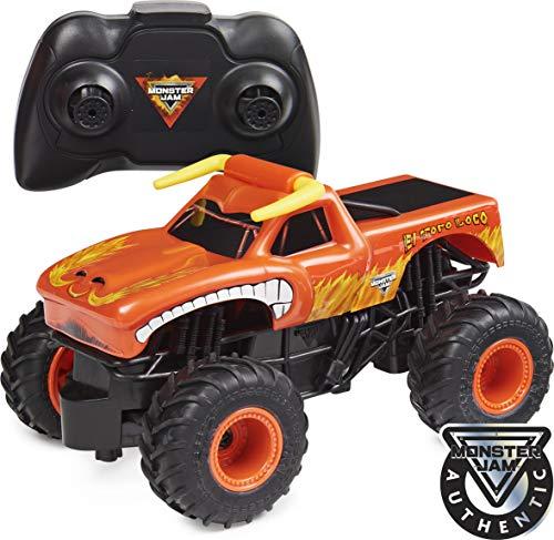 Monster Jam Oficial El Toro Loco Camión Monstruo con Control Remoto, Escala 1:24, 2,4 GHz, para Edades de 4 años en adelante