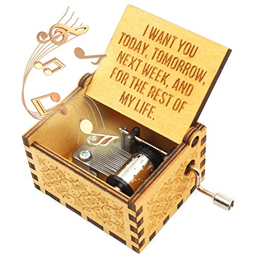 ukebobo Caja de música de Madera – Can't Help Falling in Love Caja de música, para Amante, Marido, Esposa, Regalos de San Valentín – 1 Juego