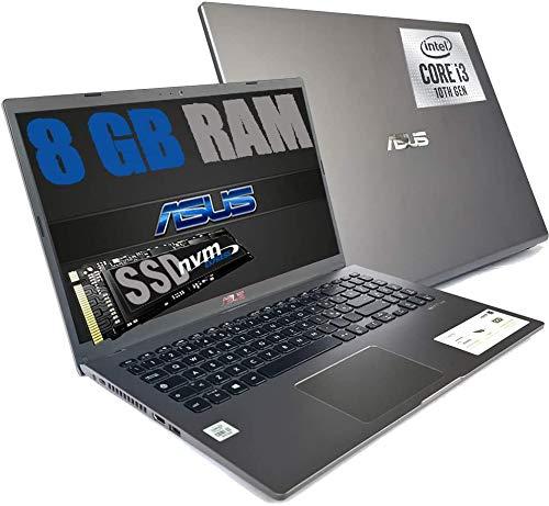 "Notebook Asus GRAY Portatile Pc Display FHD 15.6"" Cpu Intel i3-1005G1 3,4ghz /Ram 8Gb DDR4 /SSD NVMe 500GB /HD Graphics UHD /Hdmi Wifi Bluetooth /Windows 10 Pro/open office"