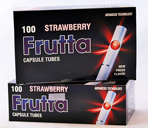 Frutta Hülsen mit Klick Strawberry Capsule Tubes 5 er Pack 5 x 100Stk …