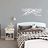 Imprinted Designs You're Off to Great Places. Dr Seuss Quote Vinyl Wall Decal Sticker Art (Black, 15' X 42') (White)