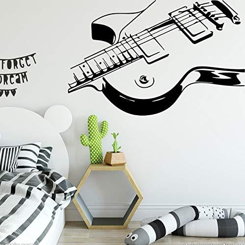 yaonuli Musikinstrument Muster Wandaufkleber für Kinderzimmer Dekoration Vinyl Selbstklebende Wandaufkleber wasserdicht 87x135cm