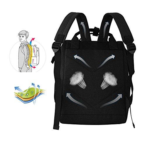 ラップトップバックパック 多機能 旅行 通勤 マザーズバッグ 大容量 ショルダーバッグ ハンドバッグ 人気 PCバッグ ママバッグ リュックサック ブラック