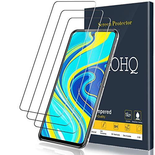 QHOHQ Pellicola Protettiva per Xiaomi Redmi Note 9S/Redmi Note 9 PRO, [3 Pezzi] Vetro Temperato Membrana, Durezza 9H - Senza Bolle - Anti-Impronta - Anti-Graffio