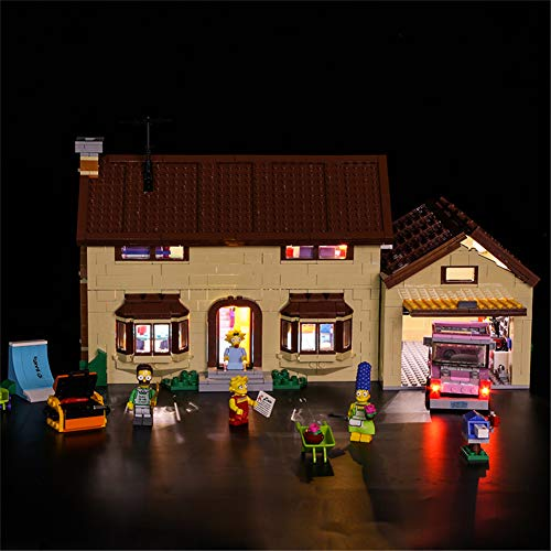 Polgron Kit De Iluminación LED para El Conjunto De La Casa De Simpson, Compatible con El Modelo De Bloques De Construcción Lego 71006 (LED Solo Incluido, Sin Modelo)