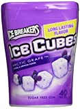 Ice Breakers Ice Cubes Arctic Grape Sugar Free Gum. 4 x 40 Count Cube Bottles by Ice Breakers Ice Cubes