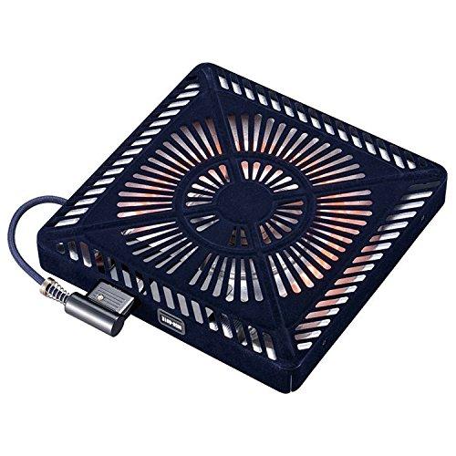 メトロ こたつ用取替えヒーター U字型石英管ヒーター 手元温度コントロール式 MSU-601E(K) ブラック