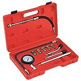 vidaXL Comprobador de Compresión Motor de Gasolina 12 Piezas Probador Medidor