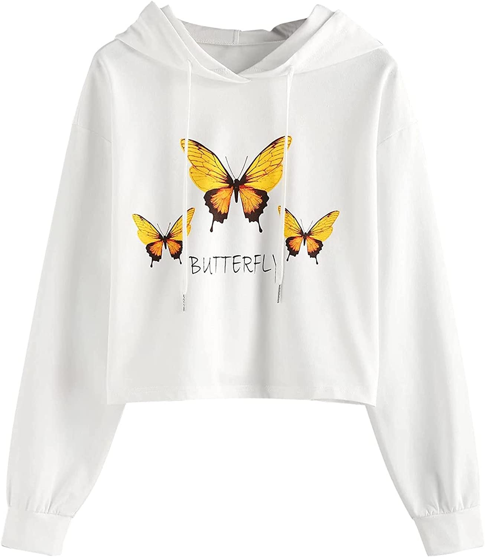 UOCUFY Hoodies for Women, Womens Drawstring Tops Sweatshirts Cute Printed Oversized Long Sleeve Pullover Sweatshirts