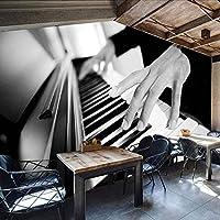 Djskhf 3D写真の壁紙カスタムレトロ人格スタイルレジャーバーKtvヨーロッパとアメリカのソファの背景壁紙ピアノ壁画 240X165Cm