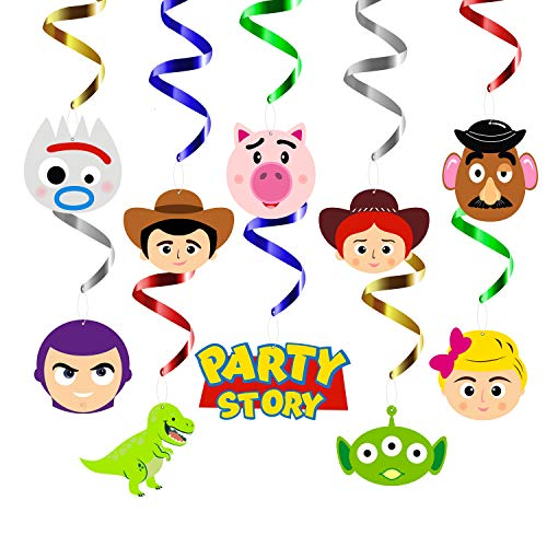MALLMALL6 30Pcs Toy 4th Party Swirls Decorations Hanging Whirl...