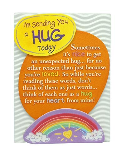 """Blue Mountain Arts Miniature Easel Print with Magnet """"I'm Sending You a Hug Today"""" 4.9 x 3.6 in., Uplifting """"Thinking of You"""" Gift for a Friend, Family Member, or Loved One"""