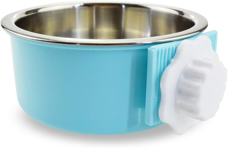 Hanging Cage Dog Bowl Stainless Steel Hanging Pet Bowl Cat Dog Food Tableware (Size   M)