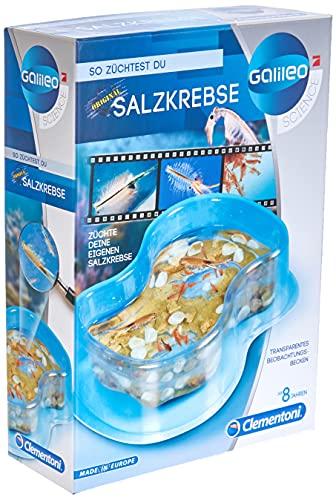 Clementoni 69937 Galileo Science – Original Salzkrebse, Züchten & Beobachten von Urzeitkrebsen, Spielzeug für Kinder ab 8 Jahren, Biologie zum Anfassen für kleine Forscher zu Weihnachten