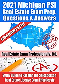 2021 Michigan PSI Real Estate Exam Prep Questions and ...