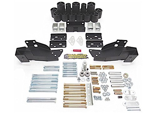 """Performance Accessories, Chevy/GMC Silverado/Sierra 1500 Gas 2WD and 4WD 3"""" Body Lift Kit, fits 2007 to 2013, PA10193, Made in America"""