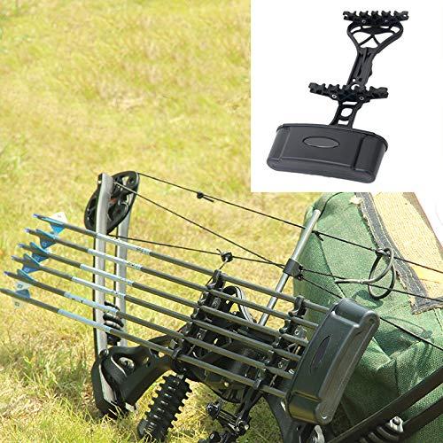 LYY Tragbarer 6 Pfeilköcher für Compoundbogen, Fast Fixierung, Protect Pfeil Schnellspanner Pfeil Zahnstangen-Halter für Compound Bogen-Jagd-Schießen