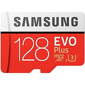 Samsung EVO Plus 128 GB microSDXC UHS-I U3 100 MB/s Full HD & 4K UHD Memory Card with Adapter (MB-MC128GA)