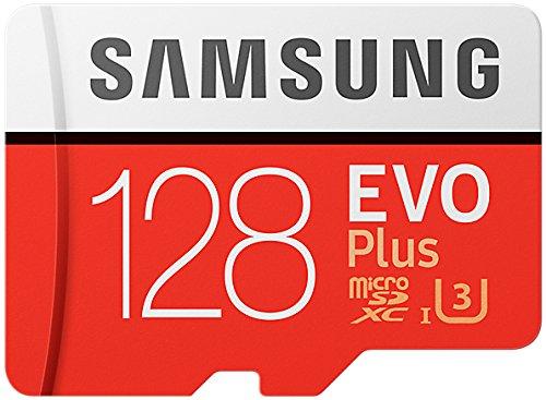 Samsung MicroSDXC - Tarjeta de memoria de 128 GB - Amazon Exclusive Packaging