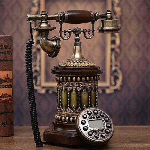 motes uvar antigüedad Europea estilo rurales fijo Madera Teléfono, Retro–Mode, creativa Casa, fijo,–Teléfono Fijo