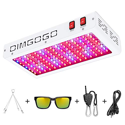 Dimgogo 1500w LED Grow Light Full Spectrum with Veg Bloom Switch, Daisy Chain Design, Double Chips...