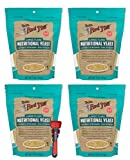 Bob's Red Mill Yeast Nutritional 5 Oz Bundle with Swivel Measuring Spoons by Westkitch (4 Pack)
