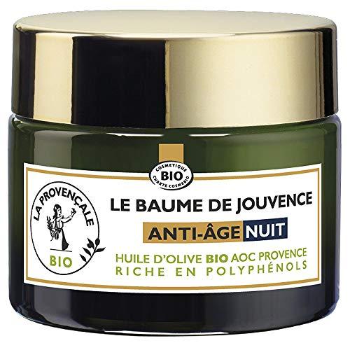 La Provençale - Le Baume de Jouvence Anti-Age Nuit - Soin Visage Nuit - Certifié Bio - Huile d Olive Bio AOC Provence - Pour Tous Types de Peaux, Même Sensibles - 50 ml