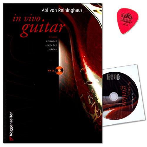 In Vivo Guitar - Gitarrenschule von Abi von Reininghaus - Klassiker unter den Gitarrenbüchern (verlangt keine theoretischen Vorkenntnisse) - mit CD und Dunlop Plek