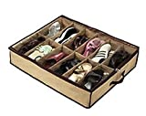 Big Bargain 12 Pairs Tidy Under Bed Fabric Shoe Storage Organizer Holder Box Closet Bag Case