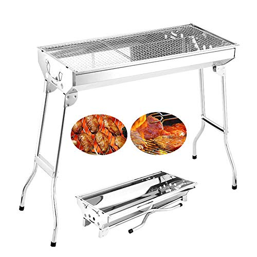 %24 OFF! YLCJ Charcoal Barbecue Grill for 5-15 People Folding Portable Stainless Steel Barbecue Tool...
