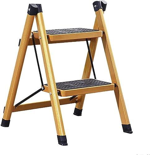 RFJJAL Escabeau Pliant à Deux échelles échelle à Deux marches échelle à Trois marches, échelle à pédale antidérapante, échelle isolée, Or portable Pliable (Taille   2 Step Ladder)