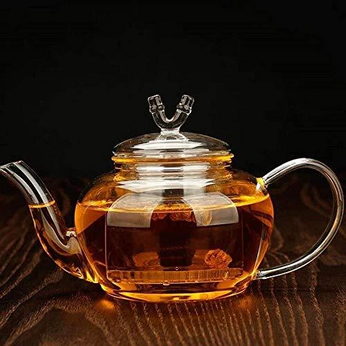 Tetera con filtro de vidrio Tetera de vidrio transparente Tetera de ebullición 650ml taza de té