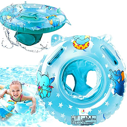 Baby Swimming Float Ring for 3-36 Months, Baby Neck Float with Float Seat,...