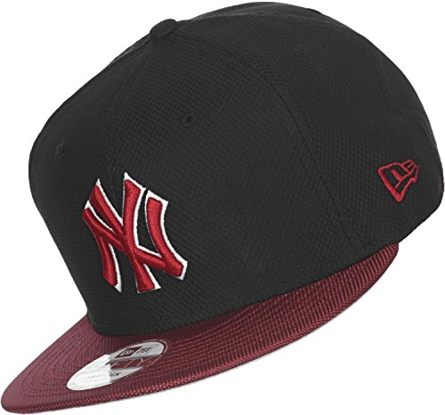 New Era - Casquette Snapback Homme New York Yankees 9Fifty Maxd Out - Black/Scarlet - Taille S/M